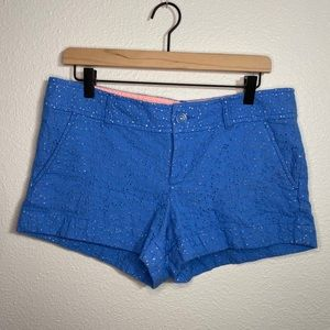 Lilly Pulitzer Blue Eyelet Ellie shorts - Size 8